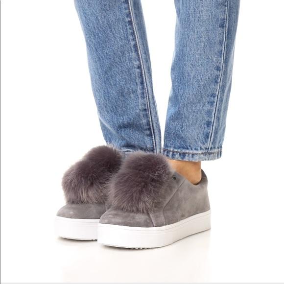 60940d0a2d7ef Sam Edelman Grey suede Leya Pom-Pom sneakers. M 5bf30c951b3294a4449f8aeb